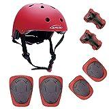 Kamugo enfants Youth réglable Sports équipement de protection de sécurité Pad SafeGuard (casque genou Coude poignet) Roller Vélo BMX Vélo Skateboard Hoverboard et autres activités de sports...