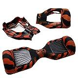 Hiboy - Coque Housse de Protection en Silicone pour 6,5 Pouces Self Balancing Scooter Accessoires - Noir&Rouge