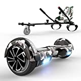 HITWAY Overboard Hoverboard Gyropode Bluetooth 6.5 Pouces, Scooter Electrique Moteur 700W, Self-Balance Board avec LED + Hoverkart