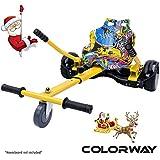 COLORWAY HoverKart pour Hover Scooter Board Kart Siège pour Gyropode, Scooter Électrique, Ajustable Compatible avec Scooter 6.5', 8.5', 10' Scooters