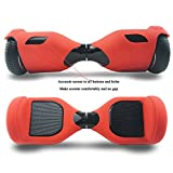 Coque Hoverboard 6.5' Silicone Scooter Housse Silicone Hoverboard Étui Souple Balance Board - Rouge