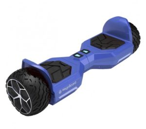 bumper hoverboard tout terrain bleu