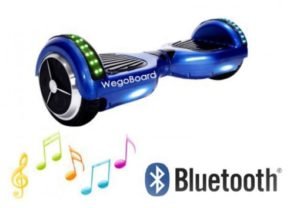 hoverboard bluetooth bleu